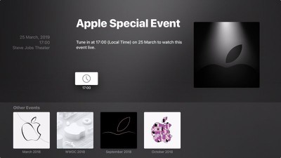 apple tv events app march 25