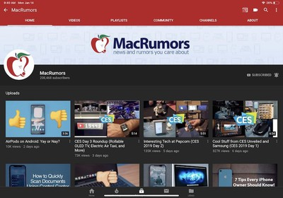 macrumors youtube