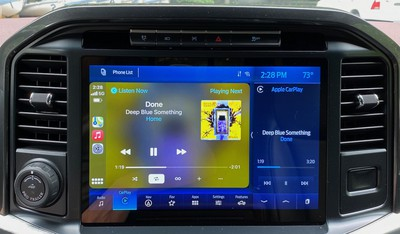 2021 ford f150 carplay now playing