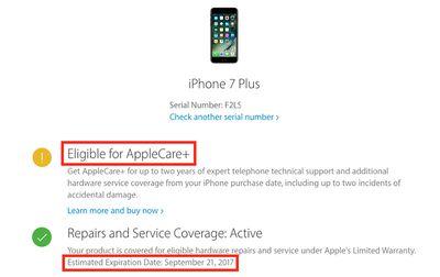 iphone 7 applecare
