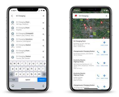 google maps charging stations