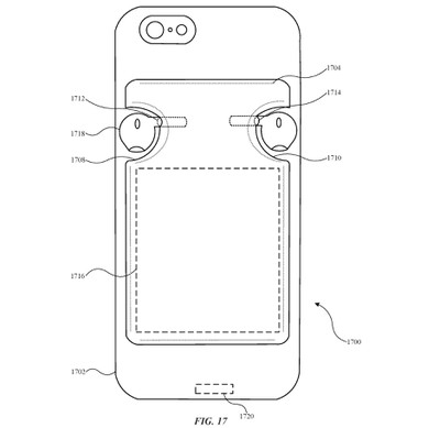 airpods iphone case patent rear