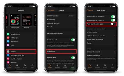 auto launch audio watch app