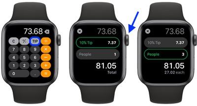apple watch split the bill tip