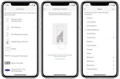 lutron caseta app setup