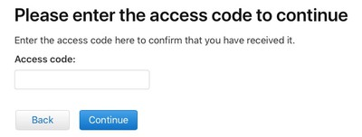 enter code to continue