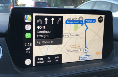 mazda carplay maps