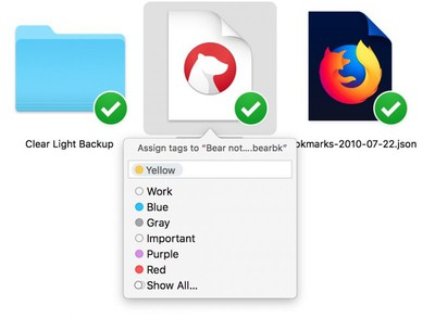 tag a file in Finder