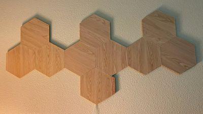 nanoleaf wood design lights off