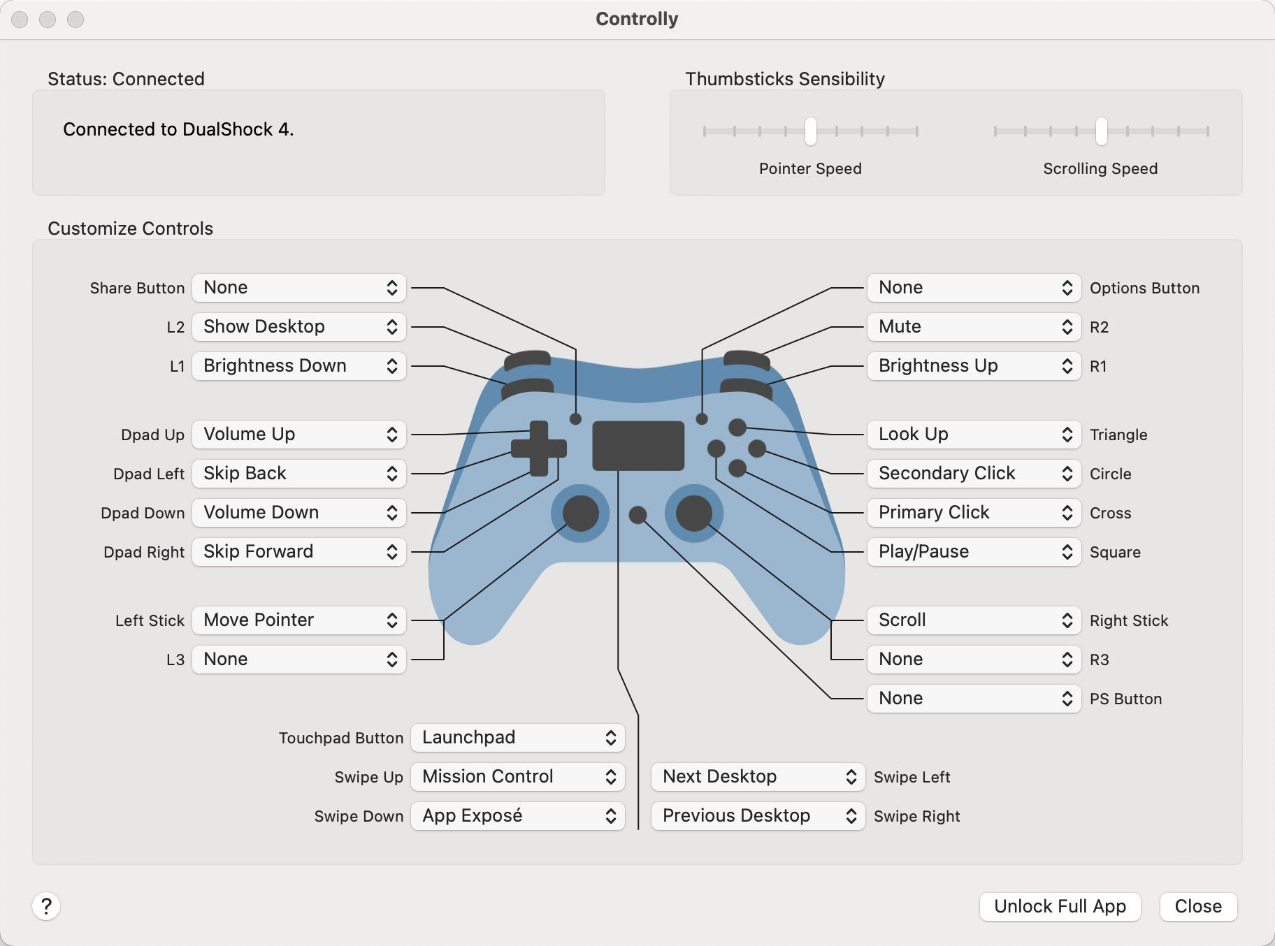 'Controlly' App Turns a Game Controller Into a Remote Control for Macs