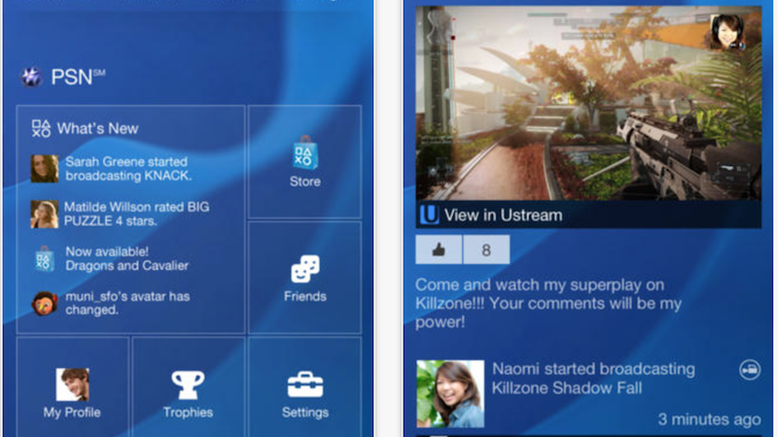 Sony Releases Playstation App Companion App For Playstation 4 Macrumors