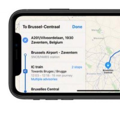 belgium transit apple maps