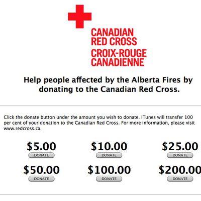 Red Cross iTunes Alberta