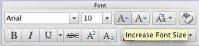 155502 word increase font size