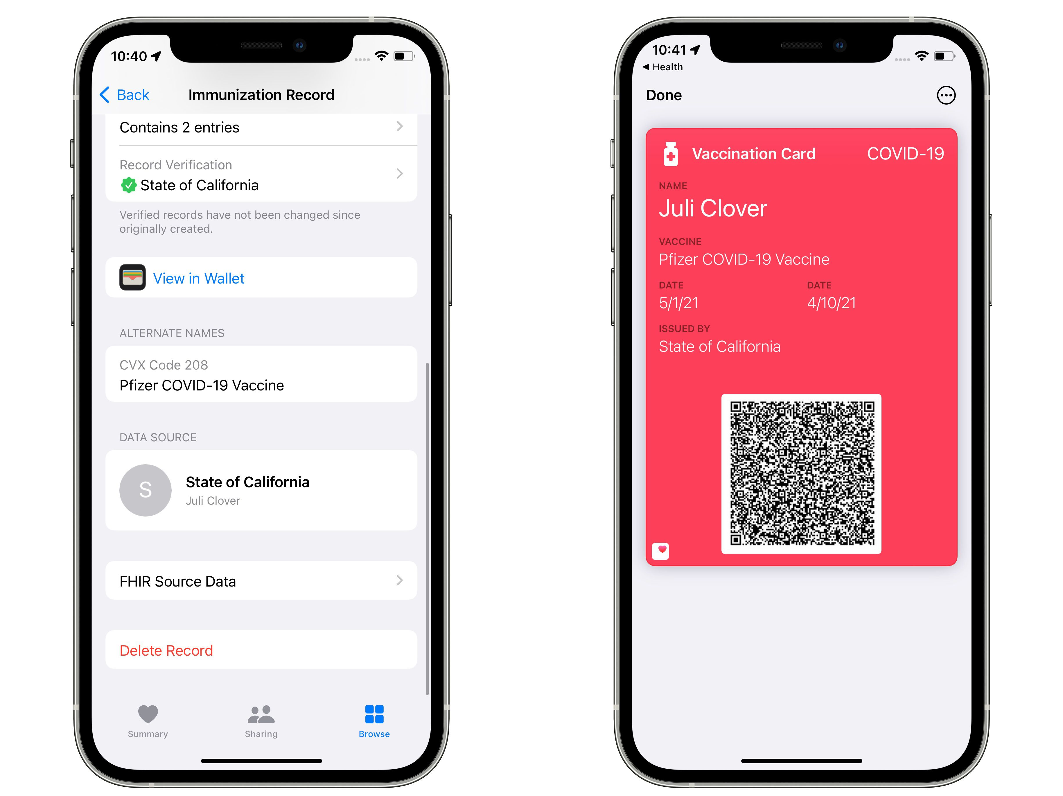 iOS 15.1 Beta Lets Users Add COVID Vaccination Card to Wallet App