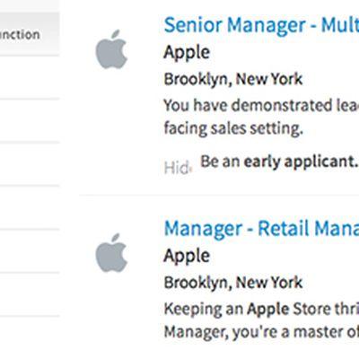 Apple retail listings Brooklyn