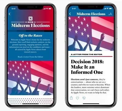 apple news midterm elections 2018