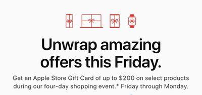 apple black friday shopping event 2019