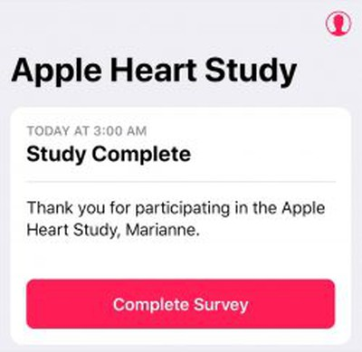 apple watch heart study complete