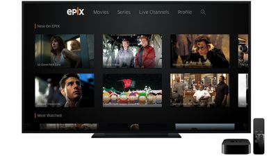 epix apple tv