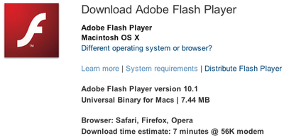 162419 flash player 10 1 download