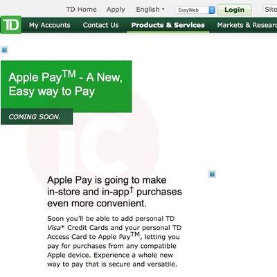 Apple Pay TD Canada Trust