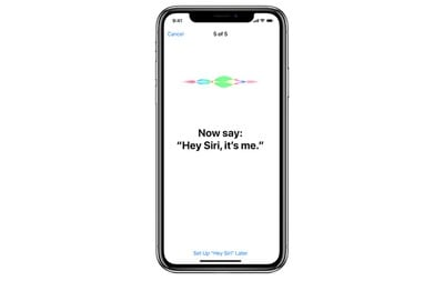 hey siri iphone x