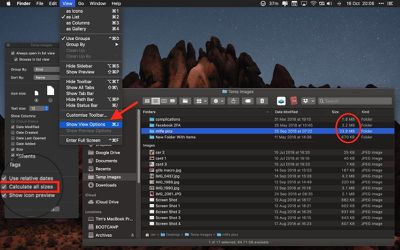 Finder view options 1