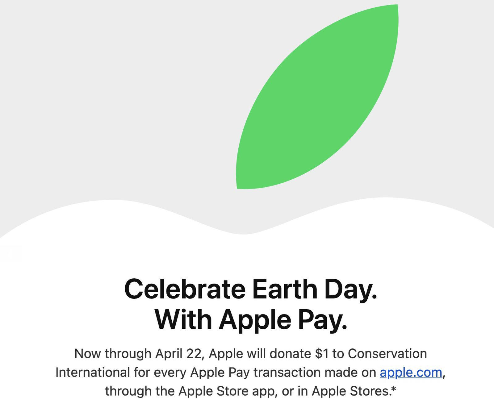 photo of Apple Celebrates Earth Day by Donating $1 for Every Apple Store Purchase Made With Apple Pay image