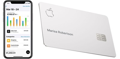 apple card titanium and app