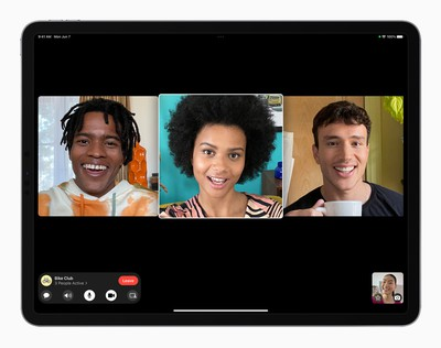 Apple iPadPro iPadOS15 FaceTime groupfacetime 4person 060721 big carosuel
