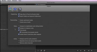 fcp x import preferences