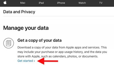 get a copy of your apple data3