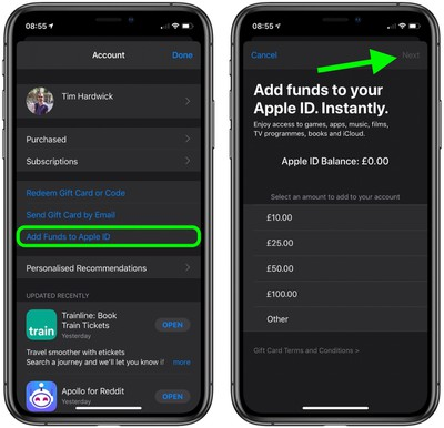 2how to add funds to your apple id