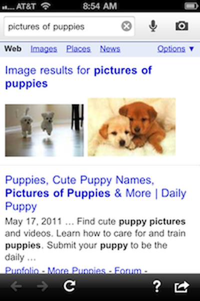 google search results new