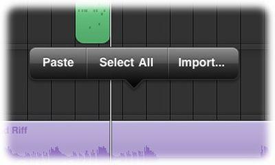 garageband ipad audio paste import