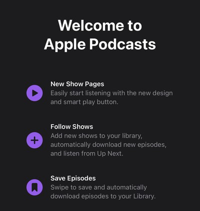 apple podcasts ios 14 5