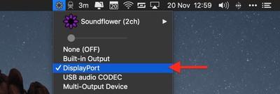 enable mac volume control of external monitor speakers04