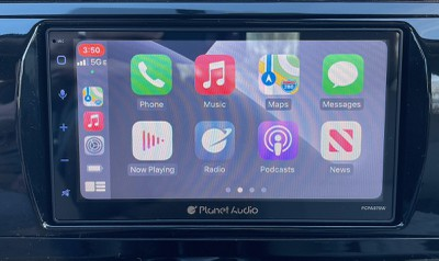 planet audio carplay home