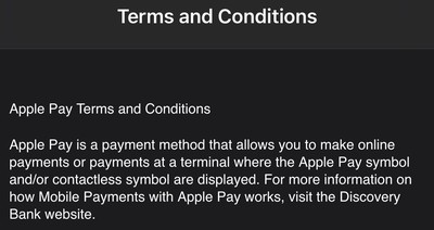 apple pay south africa terms