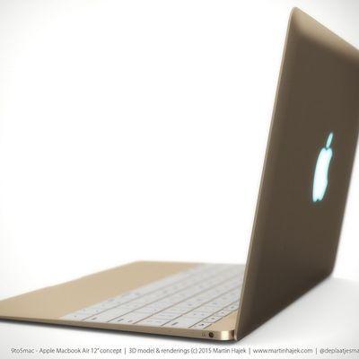 12 macbook air gold rendering