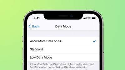 iphone 12 5g cellular data modes feature