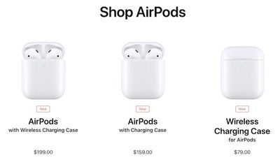 airpods options 2019