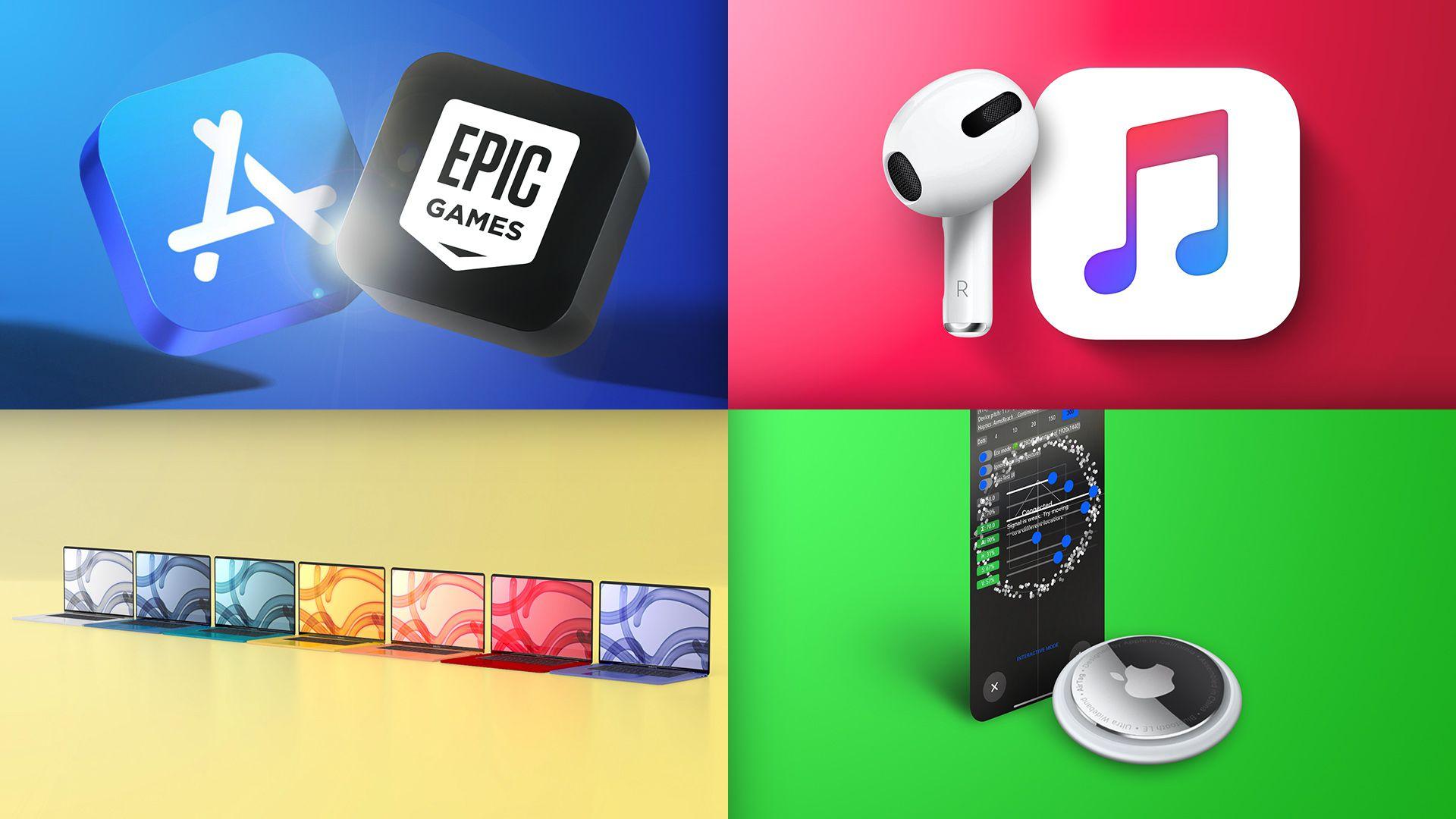 Top Stories: Epic Games vs. Apple, Hidden AirTag Mode, Apple Music Hi-Fi, Colorful MacBook Air?