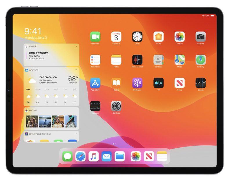 домашний экран iPadOS