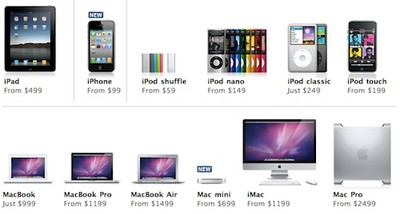 145211 apple products july 2010