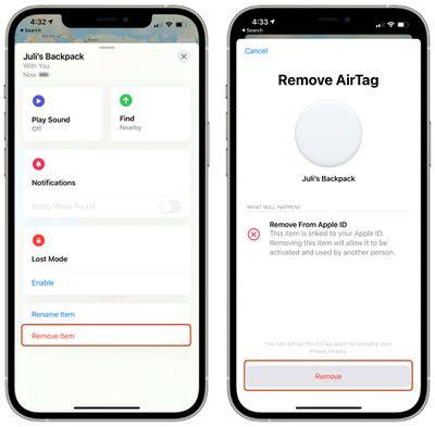 remove airtag