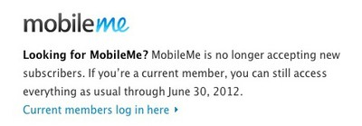 mobileme discontinued