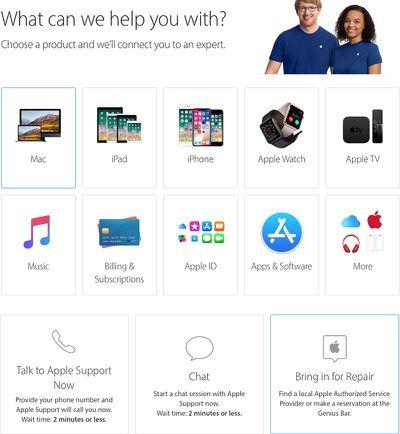 apple support mac