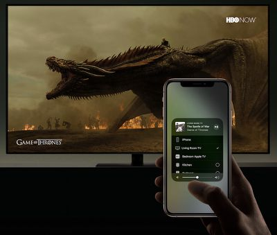 smart tv airplay game of thrones